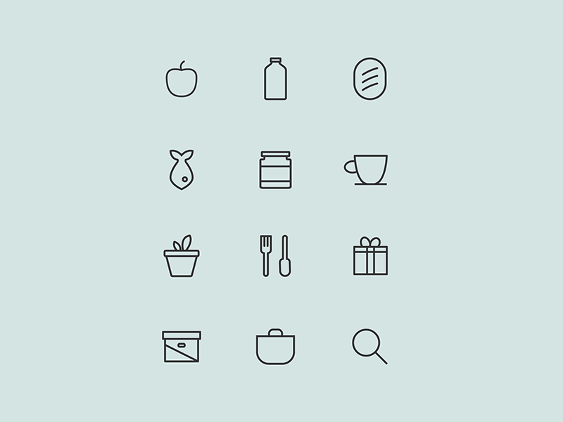 Product Category Icons By Norris Hung Dribbble Dribbble