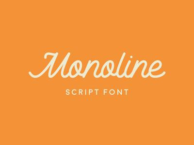Monoline Script Font By Ste Bradbury