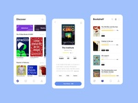eReading App category ux ui simple reading product mobile clean bookshelf book app