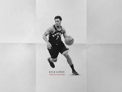 Kyle Lowry bw toronto raptors kyle lowry basketball poster texture