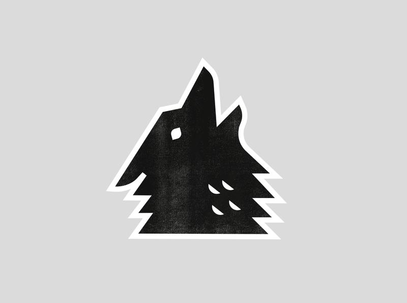 Wolf simple animal modern geometric geometry texture illustration wolf