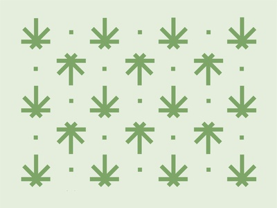 Green leafs pattern
