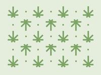 Green leafs pattern