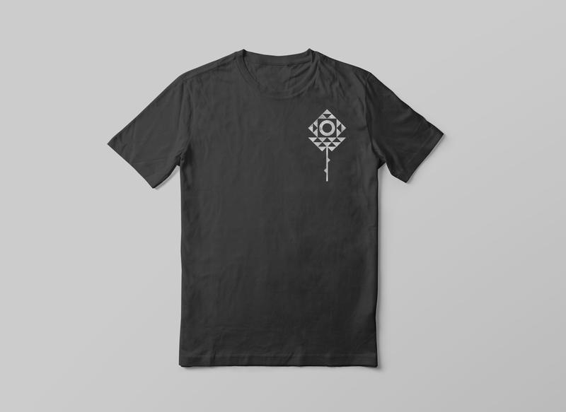 🍁 texture minimalist rose black modern flower geometric tshirt