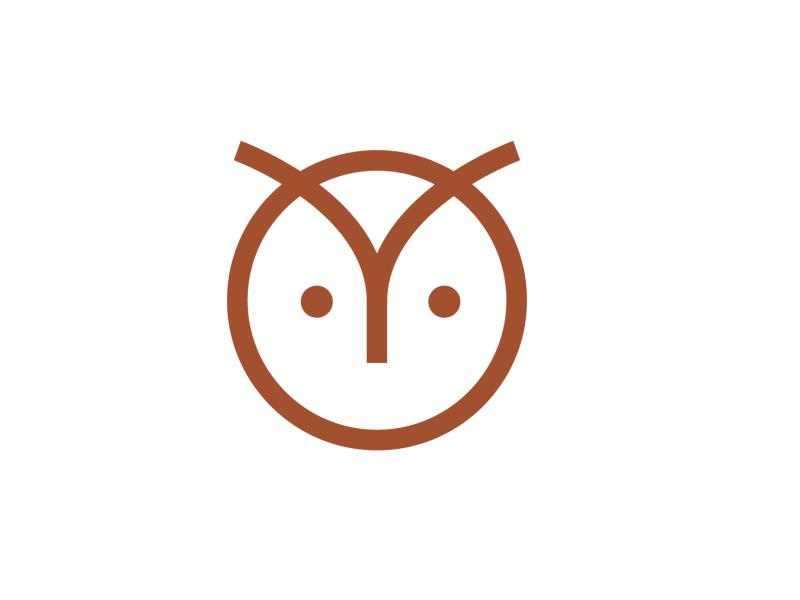 Owl modern simple animal geometry owl