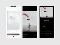 Photo Sharing App typograhy ui ux modern white photography minima clean app