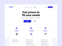 Pricing Page ux ui susbscription price layout landing page plans contrast pricing