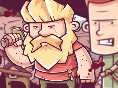 Mercenaries gang warriors mercenaries illustration character game funny vector