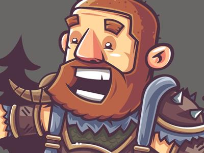 Dwarf Hunter smile hunter dwarf warrior vector legends league illustration game funny fan-art character