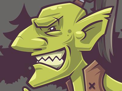 Goblin 1 orcs vector goblin wow illustration funny character