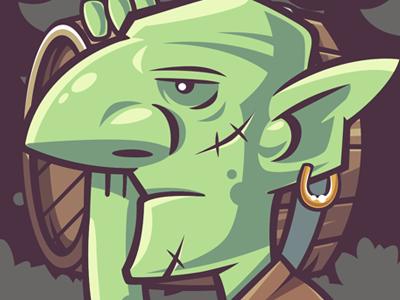 Goblin 3 wow vector orcs illustration goblin funny character