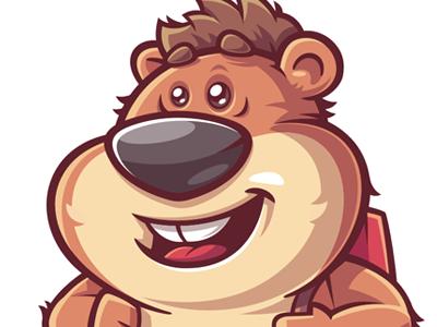 Hamster hamster funny character game illustration vector