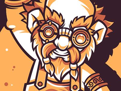 Blacksmith blacksmith funny character game illustration vector