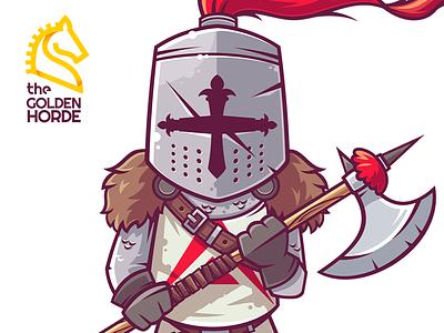 Ark Boy (Blockchain Heroes) heroes blockchain axe game warrior character funny illustration vector
