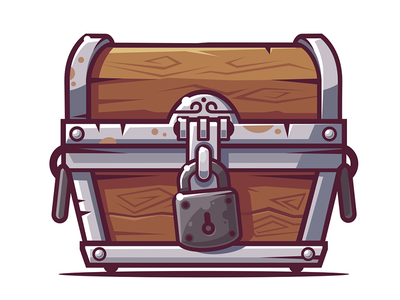 Chest ui chest game illustration vector