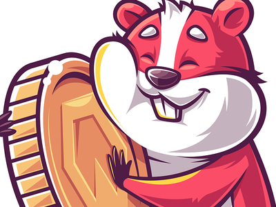 Hamster coins cryptocurrency funny game character illustration vector hamster