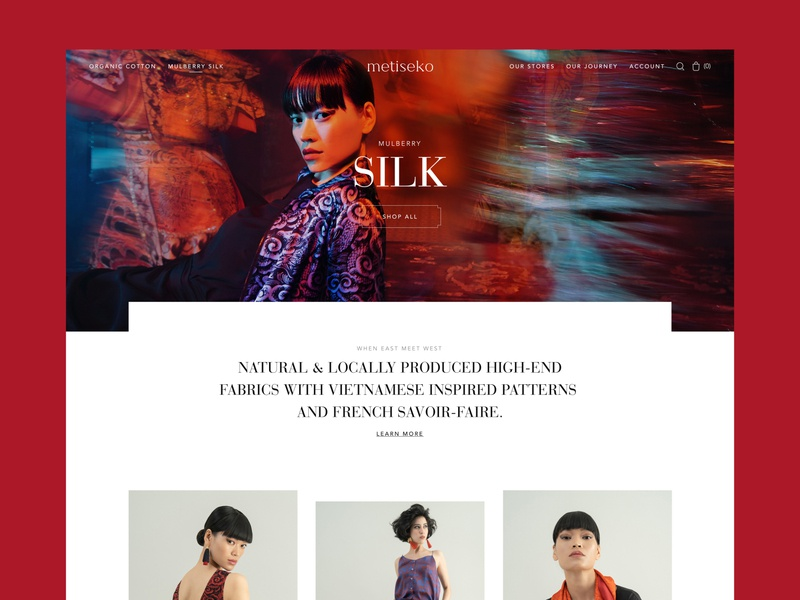Metiseko • 1 whitespace grid photo photography typeface shop store branding ui ux website fashion design ecommerce typography webdesign minimal landing layout clean