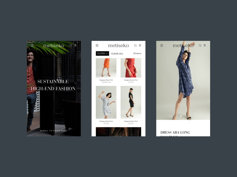 Metiseko • 2 whitespace grid photo photography typeface shop store branding ui ux website fashion design ecommerce typography webdesign minimal landing layout clean