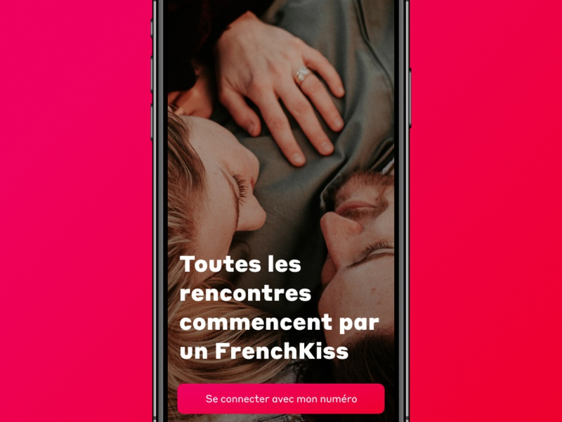Frenchkiss App #1 register splash design ui ux tinder dating app love dating meet application branding mobile app design android ios app