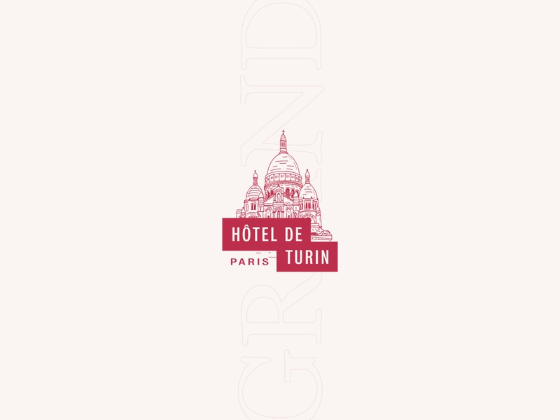 Hôtel de Turin #2 logo design branding and identity paris clean simple illustration logo logotype branding