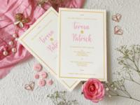 Wedding invitation mock-up