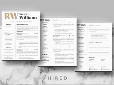 Modern Resume Design Cover Letter References Icons Tips By Hired Design Studio On Dribbble