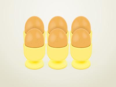 6 Eggs illustration illustrator eggs egg-cup illustration graphic