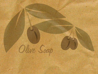 Olive graphic on brown paper graphic illustration illustrator olive brown paper