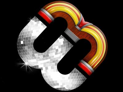 Music themed logo logo jukebox disco ball icon photoshop