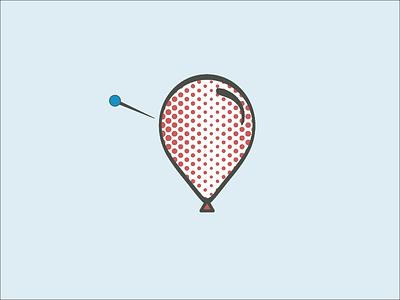 Don't pop your spots! pop popart pin acne spots icon balloon