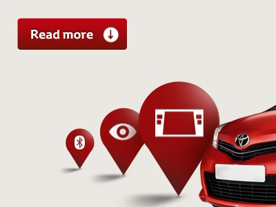 New Car Connectivity Graphics for Website car automotive website icons graphics red cta