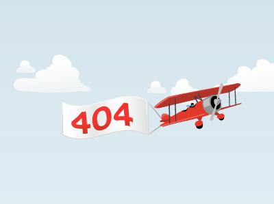 404 aeroplane 404 illustration illustrator clouds aeroplane plane banner