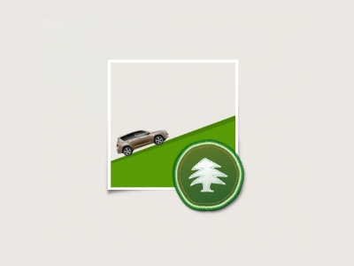 Scout Badge Button fabric cta button scout badge stitching photoshop illustrator car green offroad tree badge 4x4