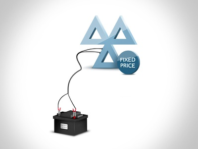Graphic for fixed price MOT and servicing car automotive mot battery leeds car battery charging website icon