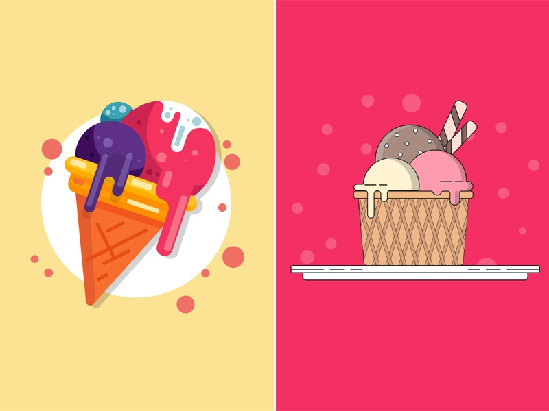 ice cream illustration art illustration ice ice cream clean adobe illustrator illustrator designer99studio design