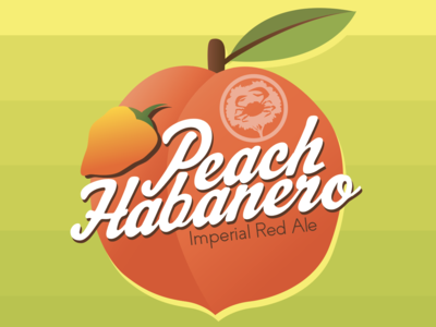 Peach Habanero Beer Label Design for Crabtree Brewing Company