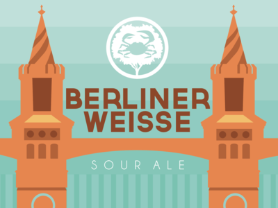 Berliner Weisse Beer Label for Crabtree Brewing Company