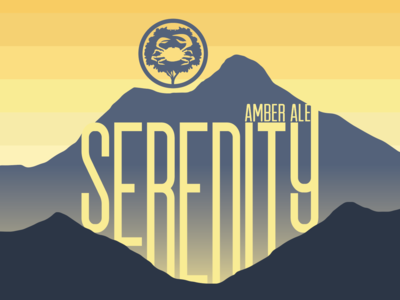 Serenity Beer Label Design for Crabtree Brewing Company