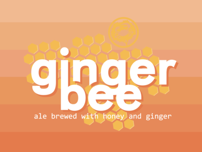 Ginger Bee beer label design for Crabtree Brewing Company