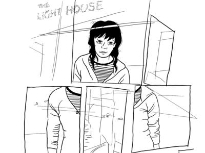 Mirror Light House Illustration