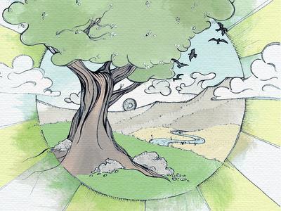 Album Art Illustration for Ben Weger