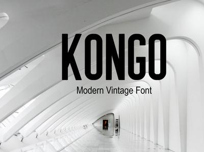 Kongo Modern Vintage Sans Font Free