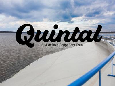 Quintal Stylish Bold Script Font Free