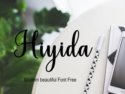 Hiyida Moderbn beautiful Font Free