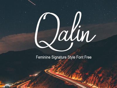 Qalin Feminine Signature Style Font Free
