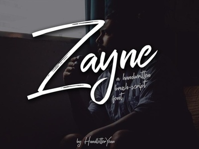 Zayne Unique handwritten font Free