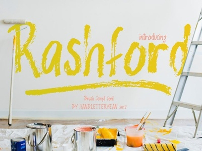 The Rashford Bbrush font Free