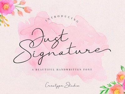 Just Signature new modern & fresh Font Free