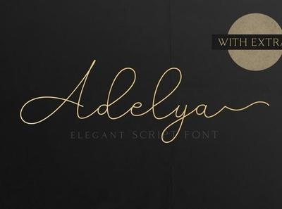 Adelya Flowing monoline font  font Free