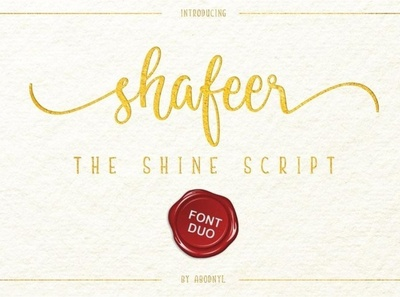 Shafeer Shine script font Free